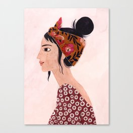 Embroidered scarf Canvas Print
