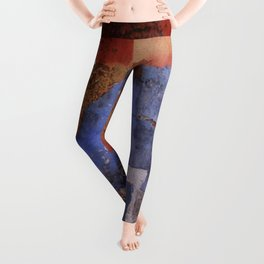 Abstract wall patchwork painting Leggings