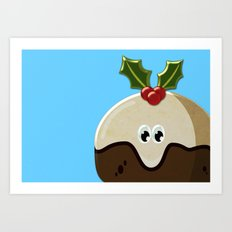 Christmas pudding Art Print