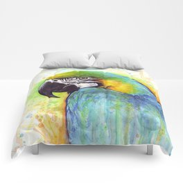 Bird Watercolor Animal Macaw Comforters