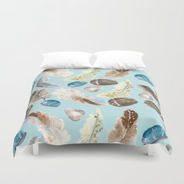 feather and rocks II Duvet Cover