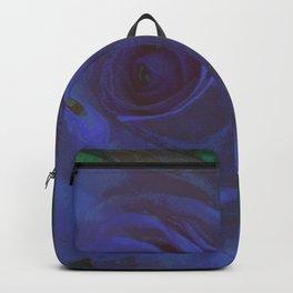 Big Blue Rose Backpack