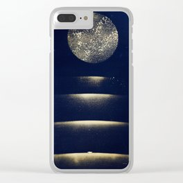 Staircase to the Moon (Gold) Clear iPhone Case
