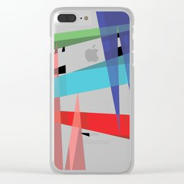 Ambient 19 on white Clear iPhone Case
