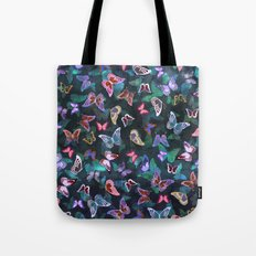 Butterfly  Forest Green Tote Bag