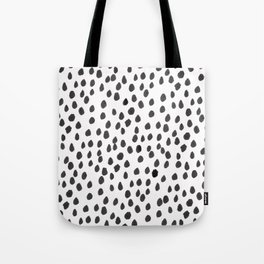 Hand painted monochrome dot pattern Tote Bag
