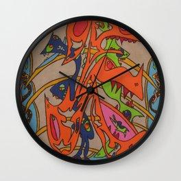Gust Of Fortuna Wall Clock