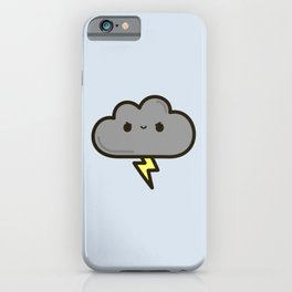 Cute lightning cloud iPhone Case