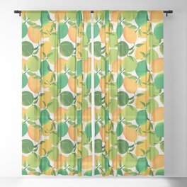 Lemons and Limes Sheer Curtain