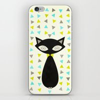mid century iPhone & iPod Skins featuring Mid Century Cat  by Laura Ruth