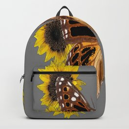 BROWN BUTTERFLY & YELLOW SUNFLOWERS Backpack