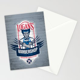 Logan's Barbershop Stationery Cards