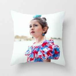 Carlita Sevillana Throw Pillow