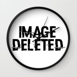 IMAGE DELETED Wall Clock