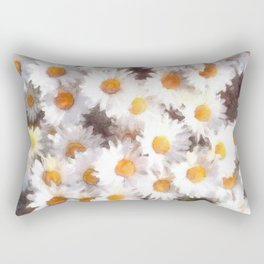 Spring Daisy Wildflower Watercolor Rectangular Pillow