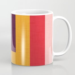Abstract Mod Cube Teal  #midcenturymodern Coffee Mug