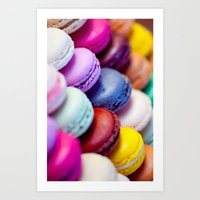 macaron Art Prints featuring Macaron by Electric Avenue