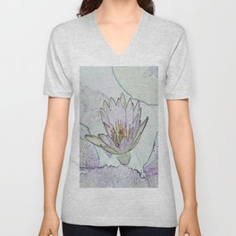 Waterlily Abstract Unisex V-Neck