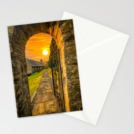 Church Entrance Sunset Stationery Cards