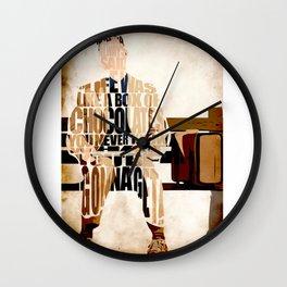 Tom Hanks Forest Gump Wall Clock
