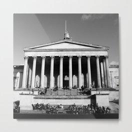 National Gallery London Photography Art Print Black and White Monochrome Metal Print