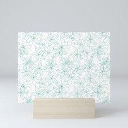 Floral Freeze White Mini Art Print