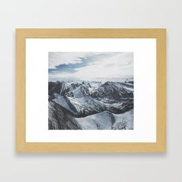 Snowy Mountains of Alberta Framed Art Print