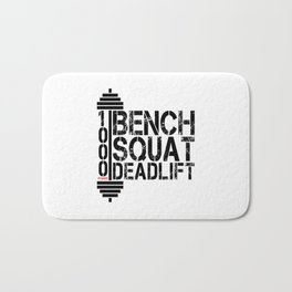 1000 Pounds Bench Squat Deadlift Powerlift Club Fitness Bodybuilder Bodybuilding Bath Mat