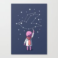 constellation Canvas Prints featuring Constellation by Freeminds