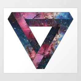 Galactic Triangles Art Print
