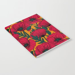 Red poppy garden    Notebook