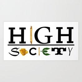 High Society Logo2 Art Print