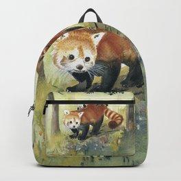 Red Panda Family Backpack