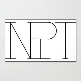 Inept Logo Canvas Print