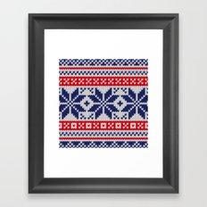 Winter knitted pattern 7 Framed Art Print