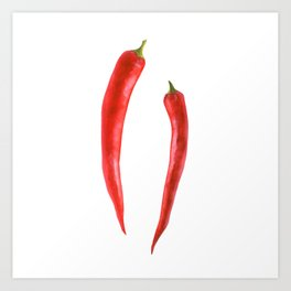 Red Hot Chili Art Print