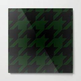 Military Green Houndstooth/Dogtooth Metal Print