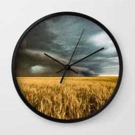Earth Mover - Storm Advances Across Great Plains in Colorado Wall Clock