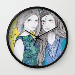 The Mirror and The Mask Wall Clock