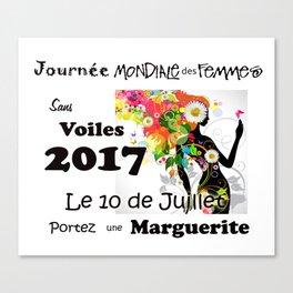 Banner : Journée Mondiale des Femmes Sans Voiles Canvas Print