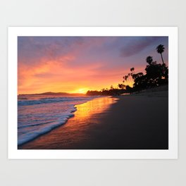 "Sunsets ""Coral Casio Sunset"" Art Print"