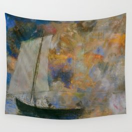 Odilon Redon - Flower Clouds Wall Tapestry