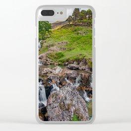 Watkin Waterfall Snowdonia Clear iPhone Case