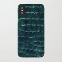 crocodile iPhone & iPod Cases featuring crocodile by clemm