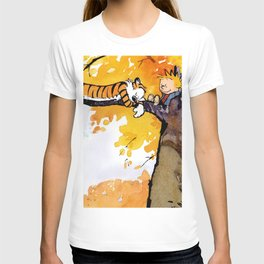 calvin and hobbes sleep T-shirt