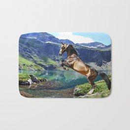 Horse and Lake Bath Mat