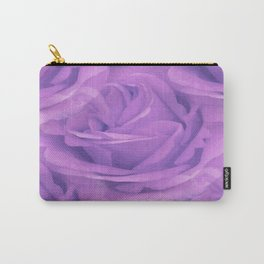 Seamless Purple Rose Vector Carry-All Pouch