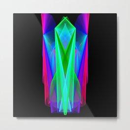 GFTNeon011 , Neon Abstract Metal Print
