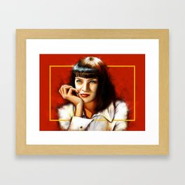 Mia Thurman Framed Art Print