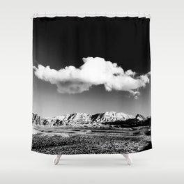 Black Sky Desert Landscape // Red Rock Canyon Las Vegas Nevada Mojave Mountain Range Shower Curtain